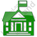 Government Facility Plain Green Icon