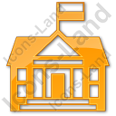 Government Facility Plain Orange Icon, PNG/ICO, 128x128