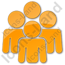 Group Plain Orange Icon