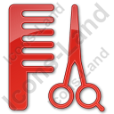 Hair Salon Plain Red Icon