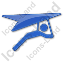 Hang Gliding Plain Blue Icon
