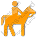 Horse Riding Plain Orange Icon