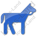 Horse Plain Blue Icon