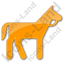 Horse Plain Orange Icon