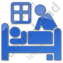 Hospice Plain Blue Icon, PNG/ICO, 128x128