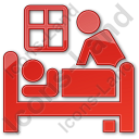 Hospice Plain Red Icon, PNG/ICO, 128x128