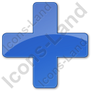 Hospital Cross Plain Blue Icon