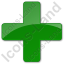Hospital Cross Plain Green Icon
