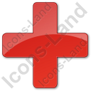 Hospital Cross Plain Red Icon