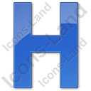 Hotel H Plain Blue Icon