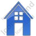House Plain Blue Icon