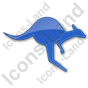 Kangaroo Plain Blue Icon
