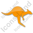 Kangaroo Plain Orange Icon