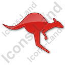 Kangaroo Plain Red Icon
