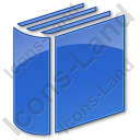 Library Book 3D Plain Blue Icon
