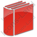 Library Book 3D Plain Red Icon