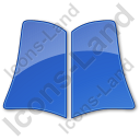 Library Book Plain Blue Icon