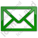 Mail Envelope Plain Green Icon, PNG/ICO, 128x128