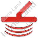 Metal Detector Plain Red Icon