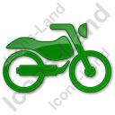 Motorcycle Plain Green Icon, PNG/ICO, 128x128