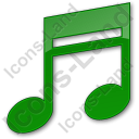 Music Plain Green Icon, PNG/ICO, 128x128