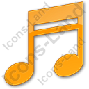Music Plain Orange Icon, PNG/ICO, 128x128
