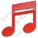 Music Plain Red Icon