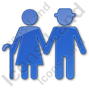 Nursing Home Plain Blue Icon, PNG/ICO, 128x128
