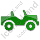 Off Road Vehicle Plain Green Icon, PNG/ICO, 128x128