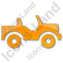 Off Road Vehicle Plain Orange Icon, PNG/ICO, 128x128