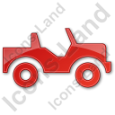 Off Road Vehicle Plain Red Icon, PNG/ICO, 128x128