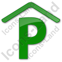 Parking P Covered Plain Green Icon