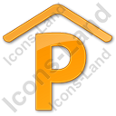 Parking P Covered Plain Orange Icon