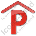 Parking P Covered Plain Red Icon