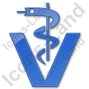 Pharmacy Rod Of Asclepius Plain Blue Icon