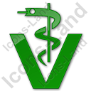 Pharmacy Rod Of Asclepius Plain Green Icon