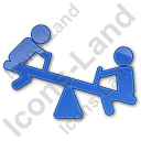 Playground Kids Plain Blue Icon, PNG/ICO, 128x128
