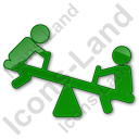 Playground Kids Plain Green Icon