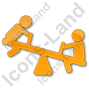 Playground Kids Plain Orange Icon