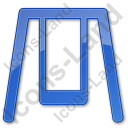 Playground Swing Plain Blue Icon