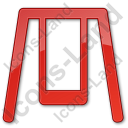 Playground Swing Plain Red Icon