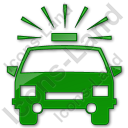 PoliceStation Plain Green Icon, PNG/ICO, 128x128