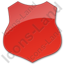 Police Badge Plain Red Icon