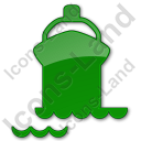 Port Ship Plain Green Icon, PNG/ICO, 128x128