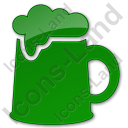 Pub Plain Green Icon, PNG/ICO, 128x128