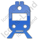 Railway Station Plain Blue Icon, PNG/ICO, 128x128