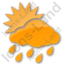 Rain Occasional Plain Orange Icon, PNG/ICO, 128x128