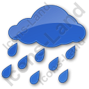 Rain Plain Blue Icon, PNG/ICO, 128x128