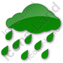 Rain Plain Green Icon