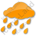 Rain Plain Orange Icon